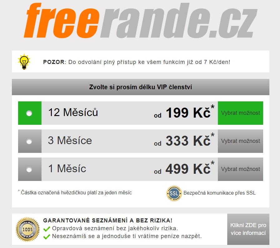 ceník seznamky freerande